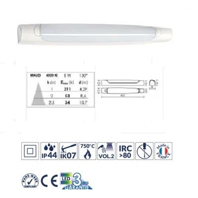 ARIC - Réglette pour salle d'eau IP44, LED et driver intégrés - 8W - 4000K - Réf - 53024
