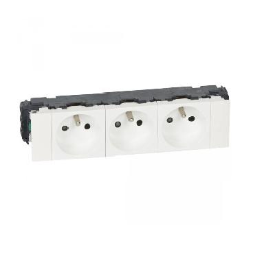LEGRAND - Prise Mosaic pour Goulotte Clippage direct - 3X2P+T - 6 MOD - Blanc - REF 077103