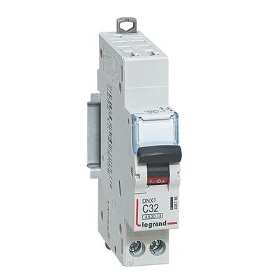 LEGRAND - Disjoncteur DNX 4500 - auto/auto- U+N 230V~ 32A - 4,5kA - courbe C - 1 mod - REF 406786