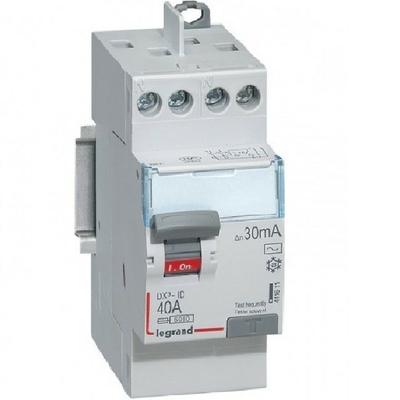 LEGRAND - Interrupteur différentiel dx-id - vis/vis - 2p - 230v~ - 40A - type AC - 30ma - départ haut - 411611
