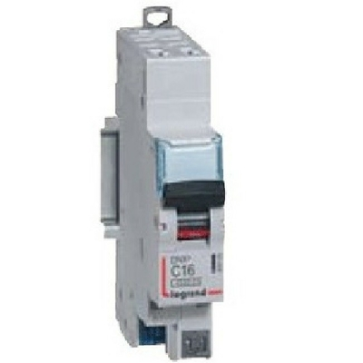 LEGRAND - Disjoncteur DNX³4500 - auto - 1P+N 230V~ 16A -6kA - courbe D - 1 mod -REF 406809