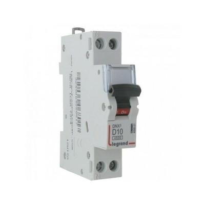 LEGRAND - Disjoncteur DNX 4500 - vis/vis - U+N 230V~ 10A - 4,5kA - courbe D - 1 mod - REF 406801