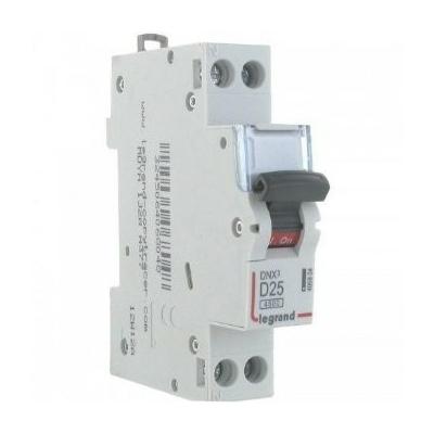 LEGRAND - Disjoncteur DNX 4500 - vis/vis - U+N 230V~ 25A - 4,5kA - courbe D - 1 mod - REF 406804