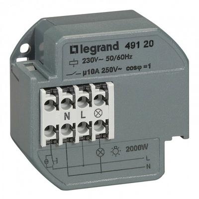 LEGRAND - Télérupteur 1P - 10 AX - 230 V~ 50/60 Hz - intensité max acceptée 50 mA - Réf 049120