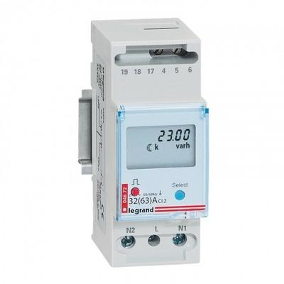 LEGRAND - Compteur d'énergie monophasé EMDX - non MID - raccdt direct 63 A - 2 mod - REF 004672