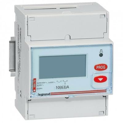 LEGRAND - Compteur d'énergie triphasé EMDX - non MID - raccdt direct 63 A - 4 mod - REF 004673