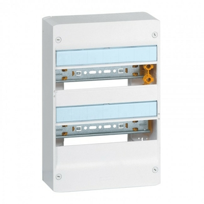 LEGRAND - Coffret Drivia 13 modules - 2 rangées - IP30 - IK05 - Blanc -  REF 401212