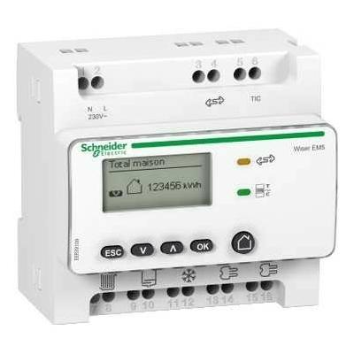 SCHNEIDER ELECTRIC - Eco compteur d'énergie - Wiser Link concentrateur de TC modulaire + 5 TC - REF EER39000