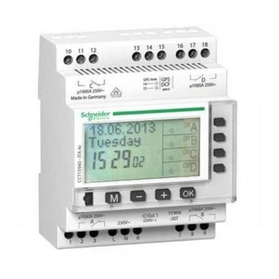 SCHNEIDER ELECTRIC- Multi9-Ita-Interrupteur horaire annuel 24h/7jours/année - 4 canaux - REF CCT15940