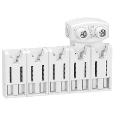 SCHNEIDER ELECTRIC - Rési9 XE répartiteurs 5 modules, 10 pas de 9mm, avec connecteur - REF R9EXHC05