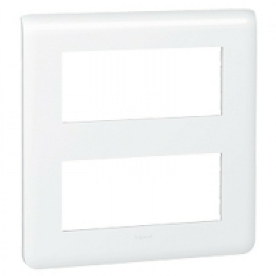 LEGRAND - Plaque Programme Mosaic - 2x5 modules - blanc - REF 078830