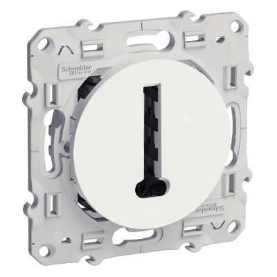 SCHNEIDER ELECTRIC - Odace, conjoncteur en T Blanc, 8 contacts, à vis - REF S520496