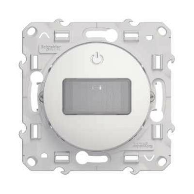 SCHNEIDER ELECTRIC - Odace, détecteur de présence et de mouvement Blanc, spécial rénovation, 2 fils - REF S520524