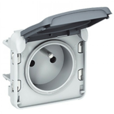 LEGRAND - Prise 2P+T éclips de protection Prog Plexo composable gris - 16 A - 250 V - REF 069551
