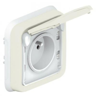 LEGRAND - Prise 2P+T avec éclips de protection Prog Plexo complet encastré blanc - 16 A - 250 V - REF 069870