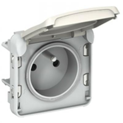 LEGRAND - Prise 2P+T éclips de protection Prog Plexo composable blanc - 16 A - 250 V - REF 069621