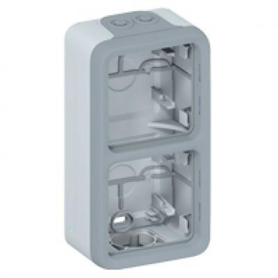 LEGRAND - Boîtier à embouts Prog Plexo composable gris - 2 postes verticaux - REF 069661