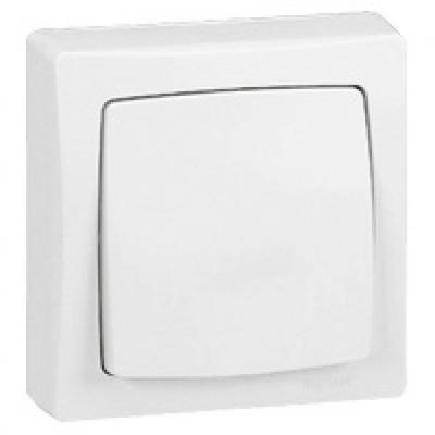 LEGRAND -Poussoir appareillage saillie complet - 6 A - blanc - REF 086006