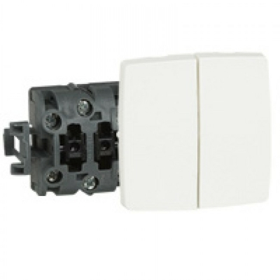 LEGRAND - Double va-et-vient appareillage saillie composable - blanc - REF 086120