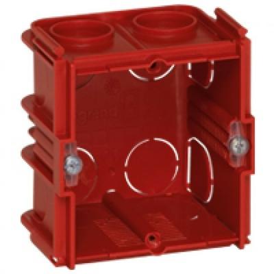 LEGRAND - Boîte monoposte Batibox - maçonnerie - carrée associable - prof. 50 - REF 080151