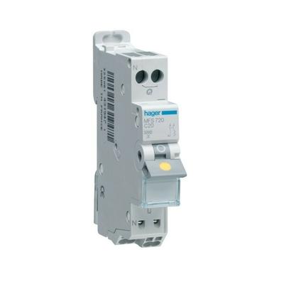 HAGER - Disjoncteur 1P+N 3kA C-20A SanVis 1M - Ref MFS720