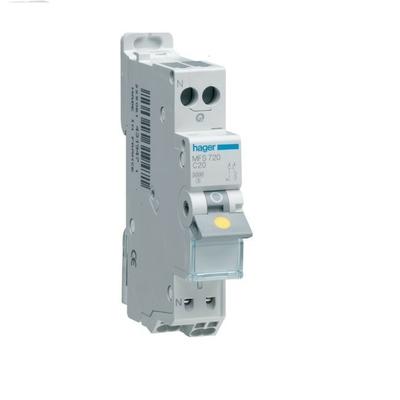HAGER - Disjoncteur 1P+N 3kA C - 16A SanVis 1M - Ref MFS716 -