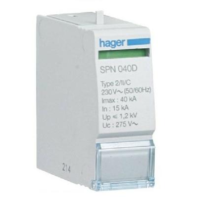 HAGER - Cartouche 40KA 255V sans réserve - Ref SPN040D