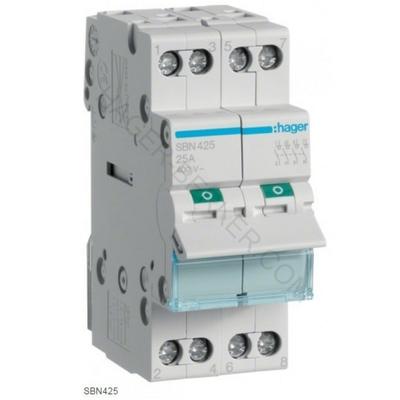 HAGER - Interrupteur Sectionneur 4P - 25A - Ref SBN425
