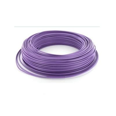 MIGUELEZ - Fil électrique rigide HO7VU 1.5 Violet Couronne de 100m - REF Cab15v