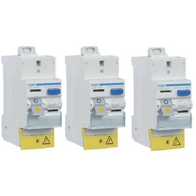 HAGER - Lot de 3 Interrupteurs différentiels - Réf CDS742F 40A Typa AC