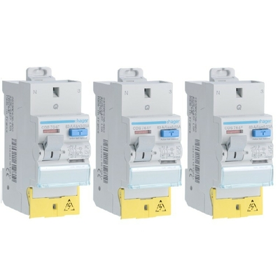 HAGER - Lot de 3 Interrupteurs différentiels - 63A - Ref CDS764F