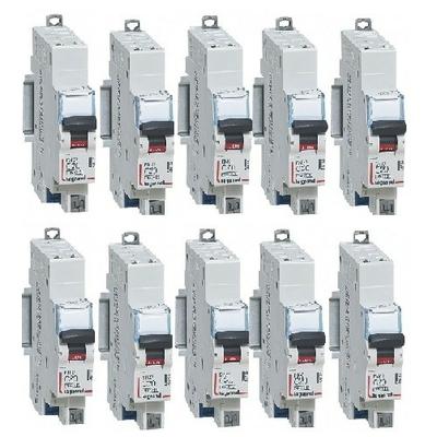 LOT LEGRAND - 10 Disjoncteurs DNX³ 4500 - 6 kA – Courbe C - 10A - Réf - 406782