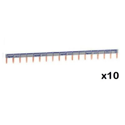 LEGRAND - LOT de 10 Peignes d'alimentation HX - 1P - universel Ph + N ref 404928