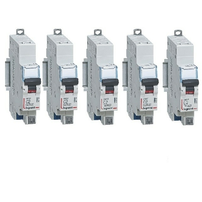 "LOT LEGRAND - 5 Disjoncteurs"" DNX – courbe C - 2A - Ref 406780"