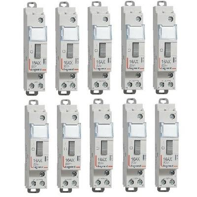 LOT - LEGRAND - 10 Télérupteurs - A Vis - 16A Ref - 412408