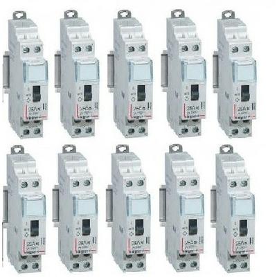 LOT - LEGRAND - 10 Contacteurs - Silencieux - 25A - Ref 412501