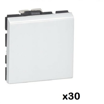 LOT - LEGRAND - Mosaic - 30 Va et Vient - 2 mod - 10 AX - blanc - Ref 077011