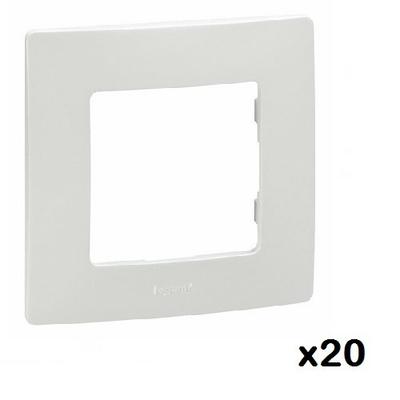 LOT - LEGRAND - 20 Plaques 1 poste Niloé - Pur ref 665001