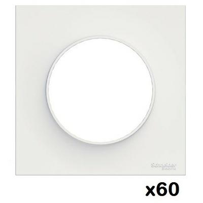 LOT - SCHNEIDER - 60 plaques de finition Blanche Odace - 1 Poste ref S520702