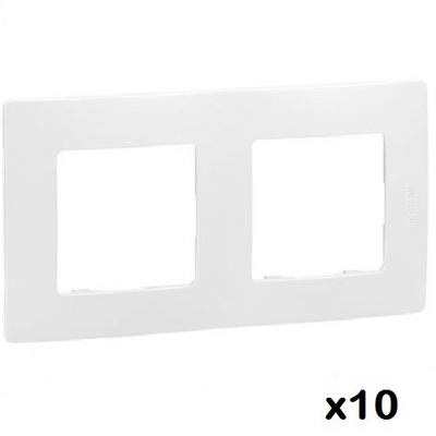 LOT - LEGRAND - 10 Plaques - 2 postes Niloé - Pur ref 665002