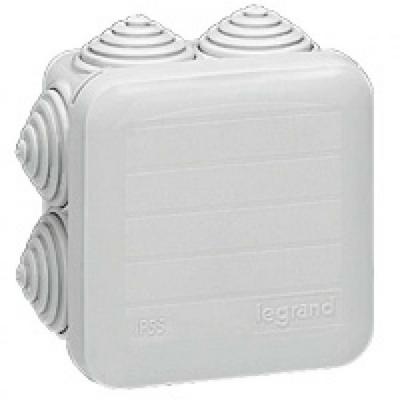LEGRAND - Boîte carrée 65x65x40 étanche Plexo gris - embout gradins (7) -IP55/IK07- 650C - REF 092205