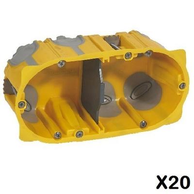 LOT - LEGRAND - 20 Boîtes Encastrements multipostes Prog.Ecobatibox 2 postes – 4/5 mod - prof. 50 mm ref 080032