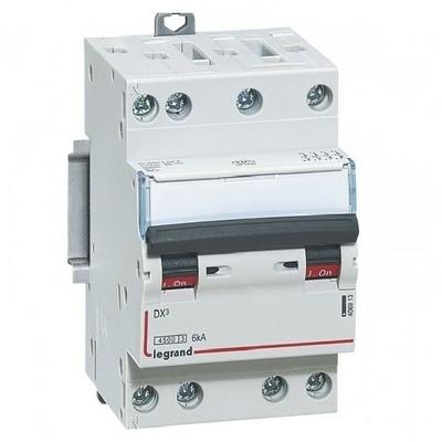 LEGRAND - Disjoncteur DNX³4500 6kA arrivée et sortie borne à vis - tétrapolaire 400V~ 10A courbe C - 3 modules - Réf - 406908