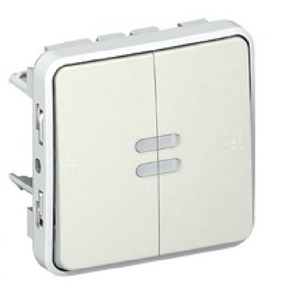 LEGRAND - Double va-et-vient lumineux Plexo composable blanc - 10 AX - Ref - 069626