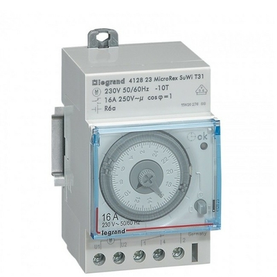 LEGRAND - Interrupteur horaire programmable analogique - auto - journalier - 3 mod - Ref 412823