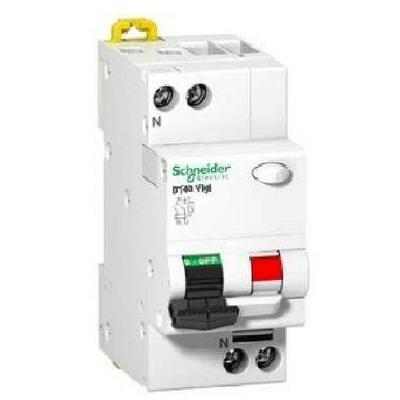Schneider Electric - Prodis DT40 Vigi disjoncteur différentiel 1P+N 6kA 10A 30 mA courbe C type AC - ref A9N21442