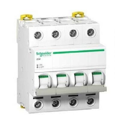 Schneider Electric - Acti9, iSW interrupteur-sectionneur 4P 40A 415VAC - ref A9S65440