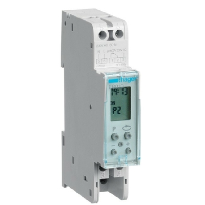 HAGER - Interrupteur horaire électronique compact 1 voie, 24h 1M  - Ref EG010