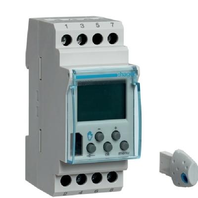 HAGER - Interrupteur horaire électronique 1 voie - évoluée (avec clé) 2 modules - Ref EG103E