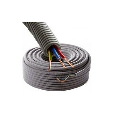 Gaine électrique ICTA préfilée 3G1.5 D16 R/B/VJ - Couronne de 25m